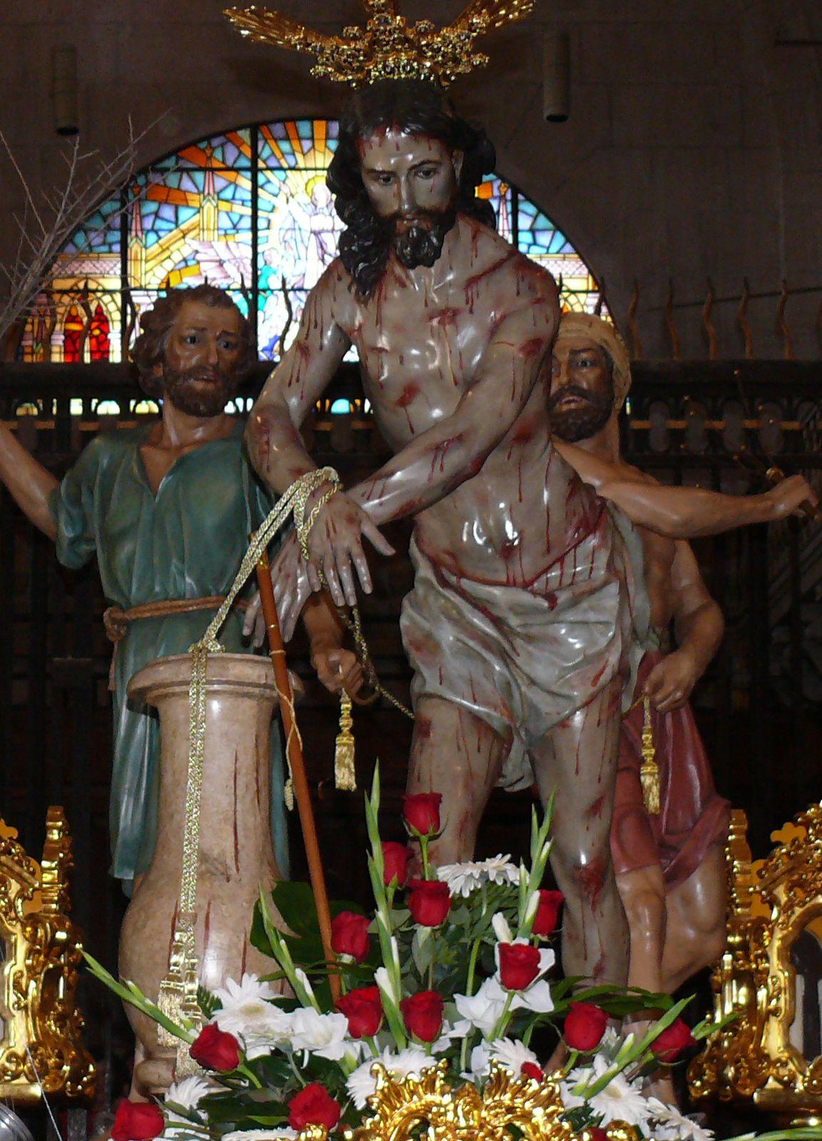 Caballo de Troya Cristo amarrado